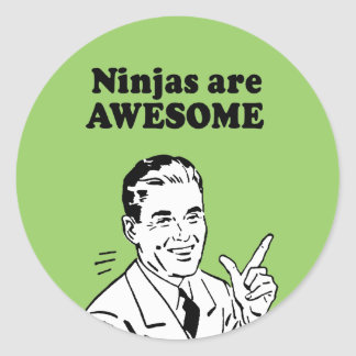 NINJAS ARE AWESOME STICKER