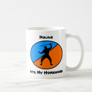 Ninjas ate my homework mugs