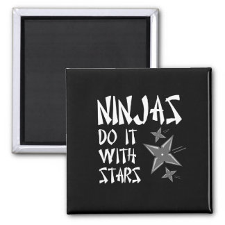 Ninjas Do It With Stars 2 Inch Square Magnet