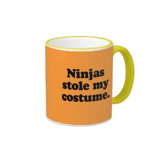 Ninjas robó mi traje tazas de café