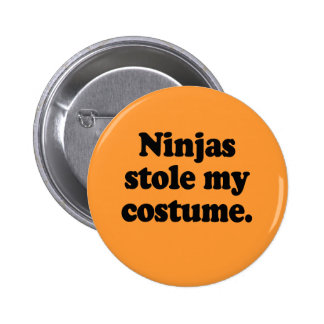 Ninjas stole my costume pinback buttons
