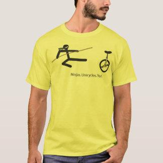 """Ninjas. Unicycles. Yeah."" Shirt in Yellow"