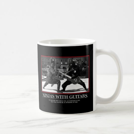 Ninjas with Guitars Coffee Mug