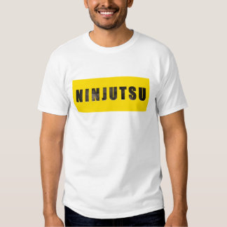 Ninjutsu cinceló el texto polera