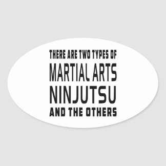 Ninjutsu Martial Arts Designs Oval Stickers