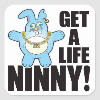 Ninny Bad Bun Life Square Sticker