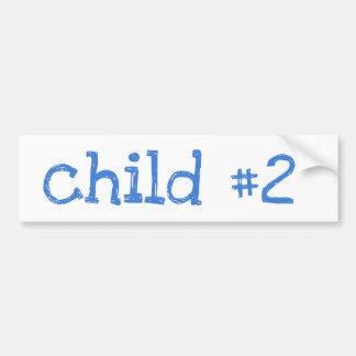 niño #2 pegatina para auto