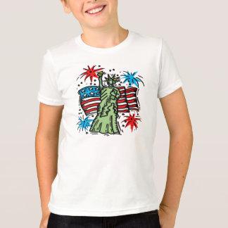 """Niño 4to de la camisa de julio:  """"Señora Liberty """""""
