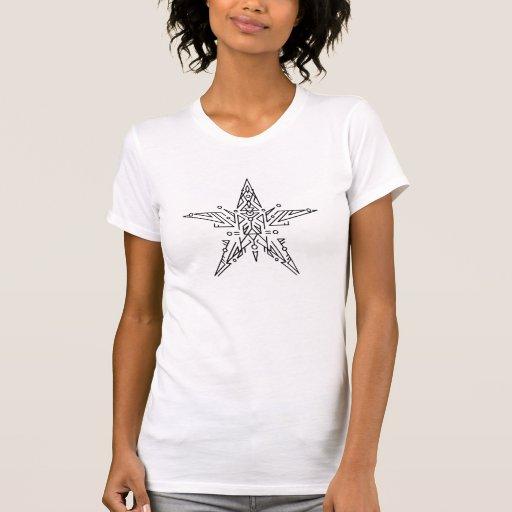 Niño abstracto de la estrella remeras