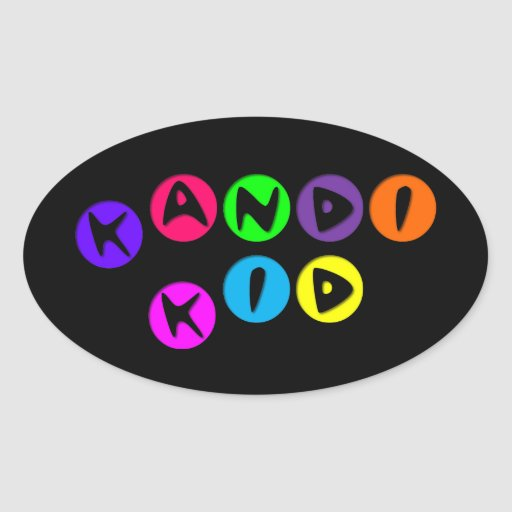 Niño adaptable de Kandi Pegatina Ovalada