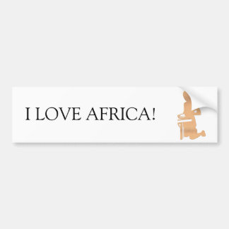 Niño africano pegatina para auto