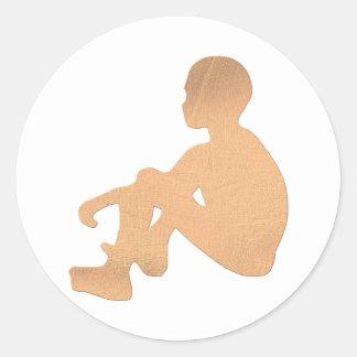 Niño africano pegatina redonda