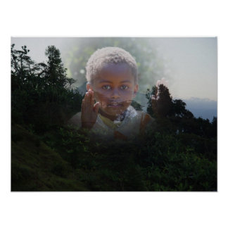 Niño africano póster