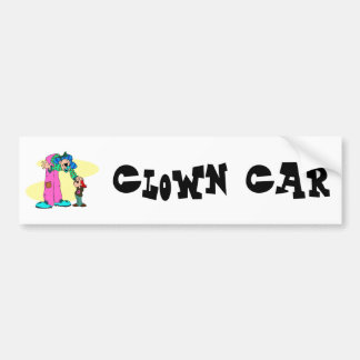 Niño alto del payaso pegatina para auto