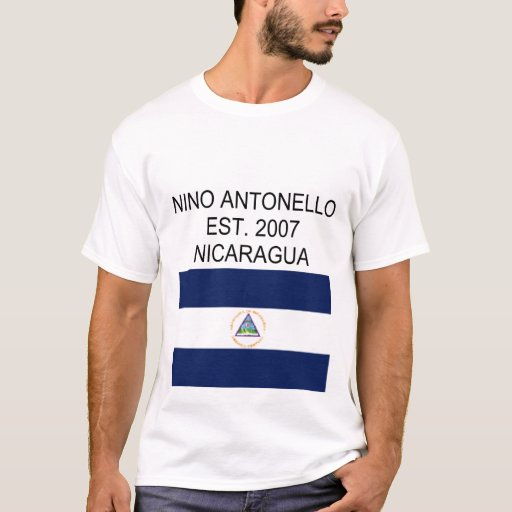 Nino Antonello Est. Bandera 2007 de Nicaragua Playera