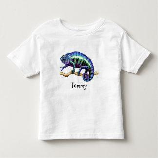 Niño azul Ahirt del camaleón de la pantera Tshirt