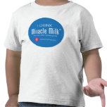 "Niño ""bebo la leche del milagro "" camisetas"