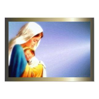 """Niño bendecido Jesús del Virgen María y del niño Invitación 5"""" X 7"""""""