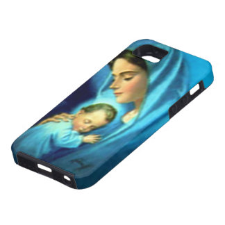 Niño bendecido Jesús del Virgen María y del niño iPhone 5 Fundas