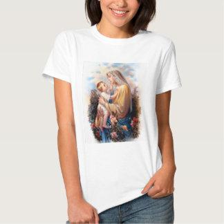 Niño bendecido Jesús del Virgen María y del niño Playeras