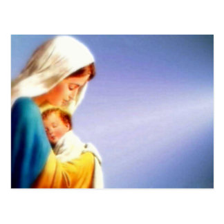 Niño bendecido Jesús del Virgen María y del niño Postales