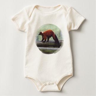 Niño blanco Rojo-Superado lindo del cuello de la Trajes De Bebé