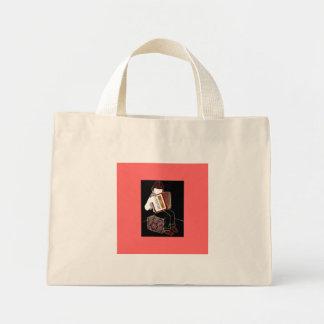 Niño con el acordeón bolsa tela pequeña