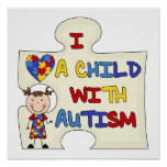 Niño con el chica trigueno 2 del autismo impresiones