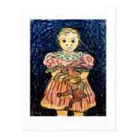 Niño con el conejo postales