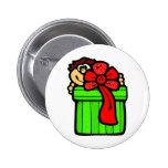 Niño con el regalo de Navidad Pins