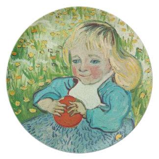 Niño con un naranja de Vincent van Gogh Plato