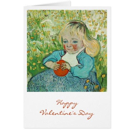 Niño con un naranja de Vincent van Gogh Tarjeta De Felicitación