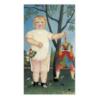 Niño con una marioneta - Henri Rousseau Plantilla De Tarjeta De Visita