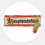 Niño de capital Berlín Irrespetuosa Germany Pegatinas Redondas