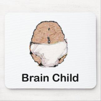 Niño de cerebro tapete de ratón