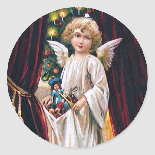 Niño de Cristo del alemán Pegatina Redonda