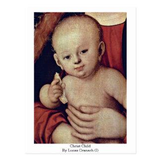 Niño de Cristo por Lucas Cranach (i) Tarjetas Postales