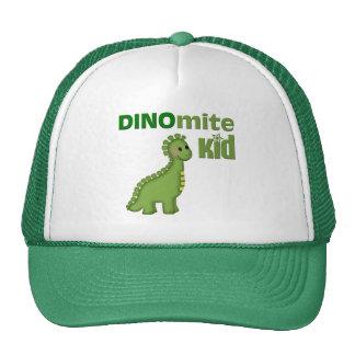 Niño de Dinomite del dinosaurio verde Gorras