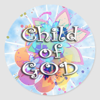 Niño de dios, en colores pastel pegatina redonda