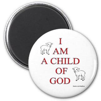 Niño de dios imán redondo 5 cm