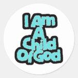 Niño de dioses etiquetas redondas