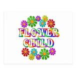 Niño de flor colorido postal