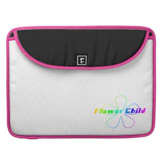 Niño de flor del arco iris funda para macbooks