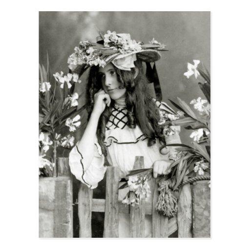 Niño de flor delante de su tiempo: 1902 postal