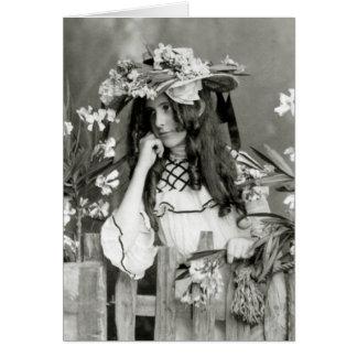 Niño de flor delante de su tiempo: 1902 tarjeta de felicitación