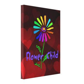 Niño de flor impresión de lienzo