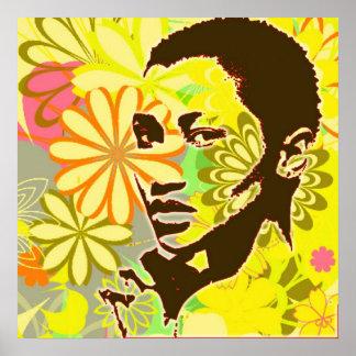 Niño de flor poster