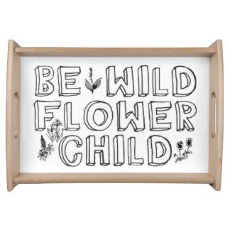 Niño de flor bandeja