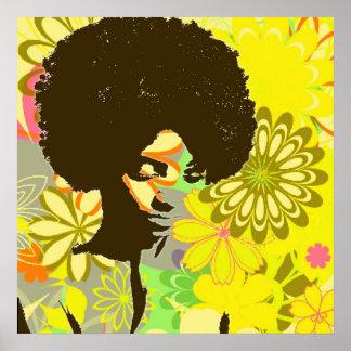 Niño de flor póster
