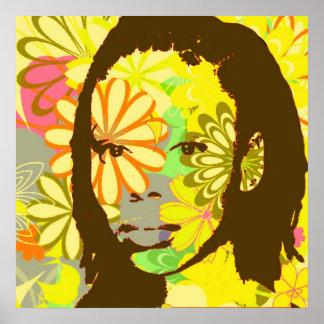 Niño de flor posters